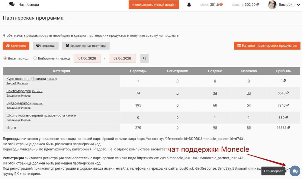 Как пользоваться партнерским кабинетом в сервисе Monecle?